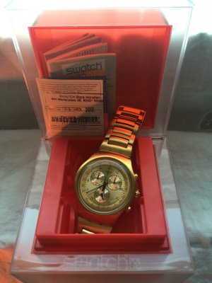 Swatch Montre doré