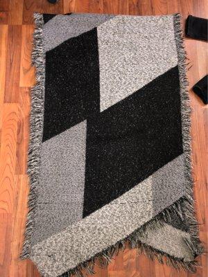H&M Bufanda de lana negro-blanco