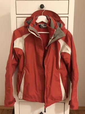 Outdoor Jacket white-brick red