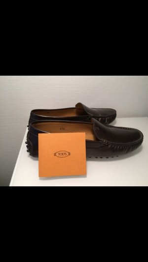 Tod's Moccasins grey brown leather