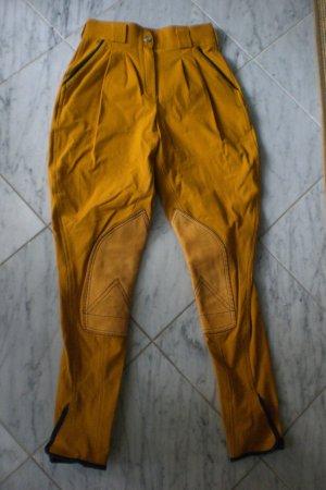 Sehr gut erhaltene Reiterhose von Hermès stretchig mit Ledereinsatz
