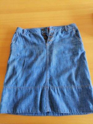 s.Oliver Jupe en jeans bleu fluo coton