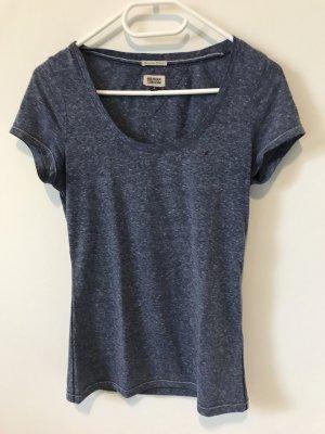 Tommy Hilfiger Denim Boatneck Shirt steel blue mixture fibre