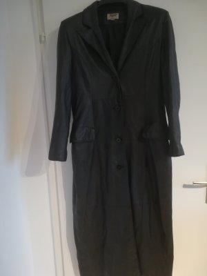 Yippie Hippie Manteau en cuir noir