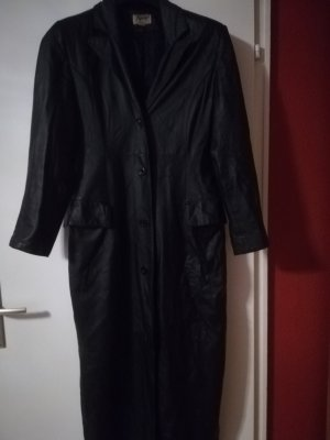Sehr guter Zustand: Glattleder Mantel, 135 cm lang, Echtleder