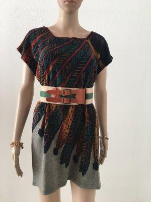 Cintura in tela multicolore