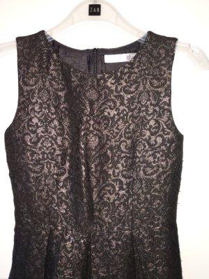 sehr hochwertiges Kleid von hallhuber Donna grösse 34 XS schwarz Bronze Gold Weihnachten X-Mas Silvester
