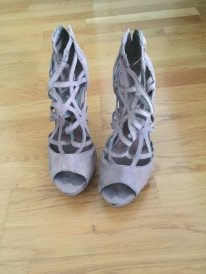 High Heel Sandal grey brown