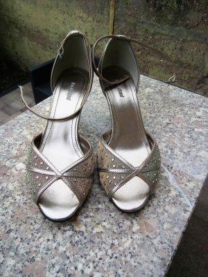 Sehr hübsche Sandalen metallic Schimmer