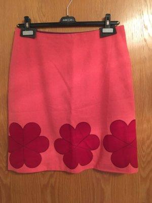 Boden Falda de lana salmón-rojo frambuesa Lana