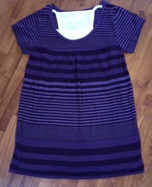 Camicia a tunica viola scuro-blu-viola