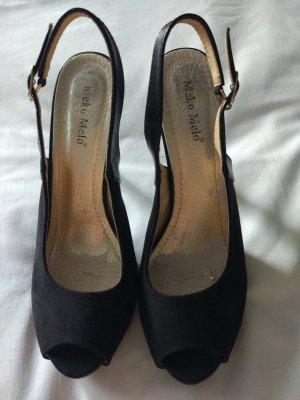 High Heel Sandal black suede
