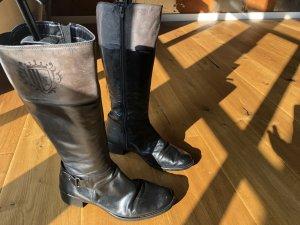 Korte laarzen zwart-grijs