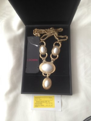 Escada Couture Collier Necklace white-sand brown