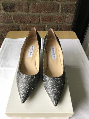 Sehr schicke Schuhe Silbe-Metalik. von Jimmy Choo, Gr.39,5