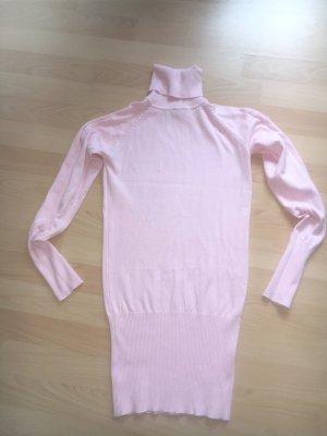 Sehr schicker Rollkragenpullover in länger Form von Only, Gr. L, rosa, neu