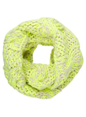 Roxy Knitted Scarf neon yellow