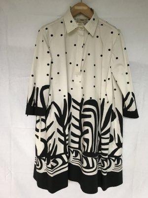 Robe chemise blanc-noir