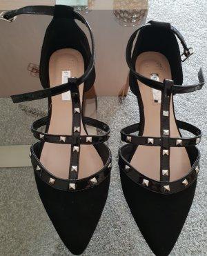 Primark Peep Toe ballerina's zwart-zilver