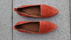 Cynthia Rowley Ballerinas with Toecap brick red-red leather