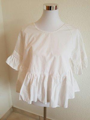 Sehr schöne Baumwoll Bluse in Größe 36 Farbe : weiß