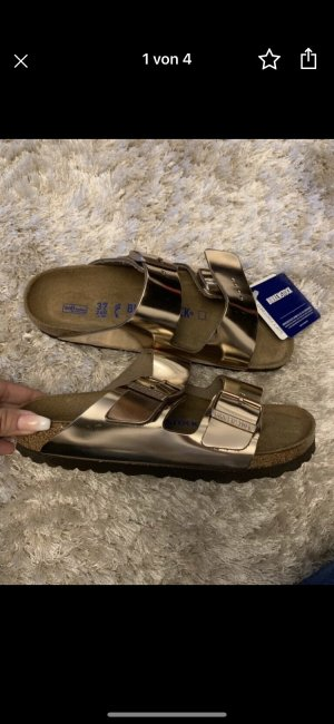 Birkenstock Sandalo outdoor color oro rosa