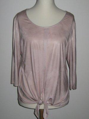 Slip-over blouse stoffig roze