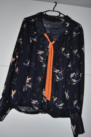 sehr schöne Bluse mit Vogelprint