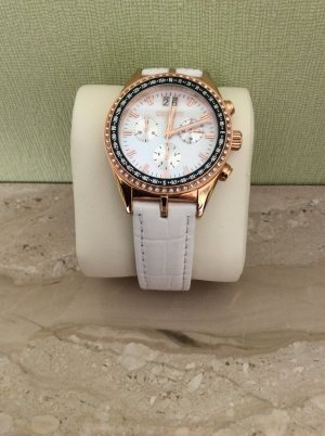 Cerruti Watch With Leather Strap white