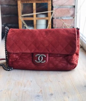 Chanel Borsetta rosso scuro Pelle