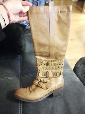 Sehr schöne Dockers Stiefel in braun mit sehr schönen Verzierungen und Schnallen in Größe 39