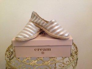 Cream Espadrille Sandals gold-colored-cream