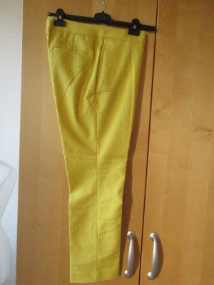 H&M Bandplooibroek sleutelbloem-geel Katoen