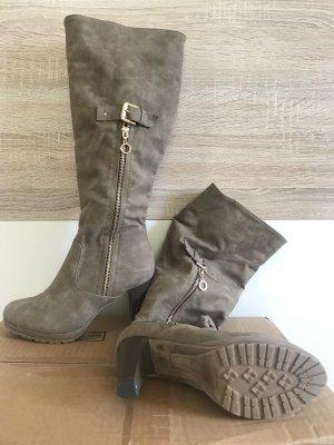 Sehr schöne Grau-Beige Stiefel