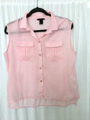 Sehr schöne H&M Bluse Top Gr S mit Kragen ärmellos rosé