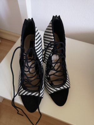 Zara Talons hauts blanc-noir