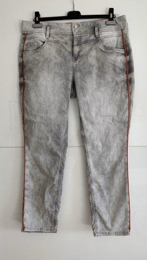 Street One Jeans stretch gris clair-gris tissu mixte