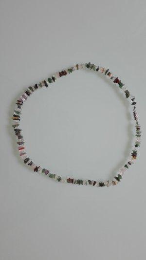 Sehr schöne Kette aus verschiedenen Halbedelsteinen, Länge 50cm