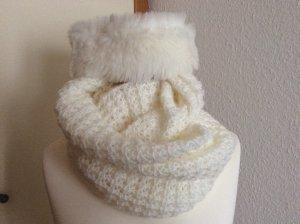 Barts Chapeau en fourrure blanc