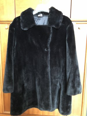 Fake Fur Jacket black brown fake fur