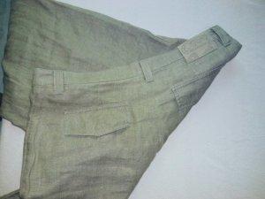 Anne Michelle Pantalón de lino caqui-gris verdoso Lino