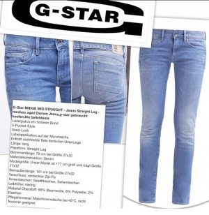 Sehr schöne - neue - G-Star Jeans Gr. 28/32