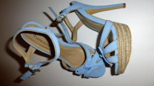 Platform High-Heeled Sandal azure