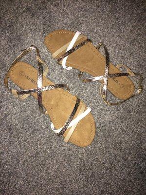 Sandalen veelkleurig Leer