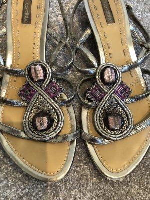 Coralblue Sandals silver-colored-dark violet