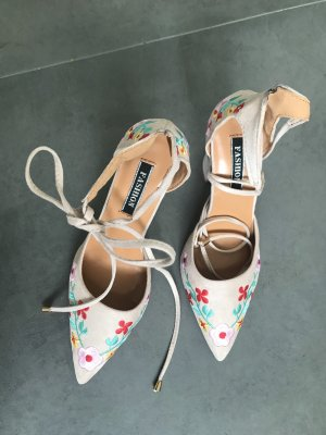 Lace-up Pumps oatmeal-cream