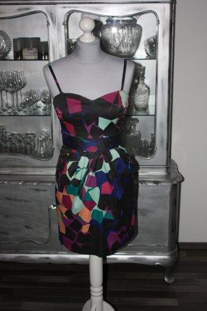 Sehr schöne schwarz bunte Kleid 36 groß H&M