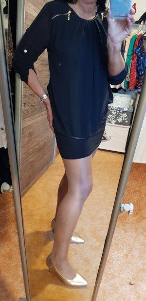 Sehr schöne schwarze Bluse mit mega tollen Rücken Gr 38 Italy Mode