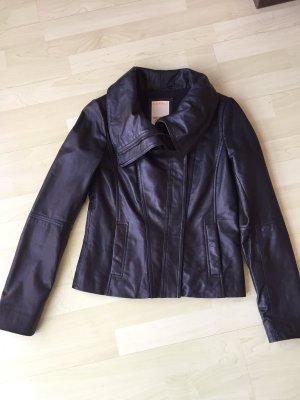 Sehr schöne schwarze Lederjacke von Esprit, Gr. 34 XS, WIE NEU!!