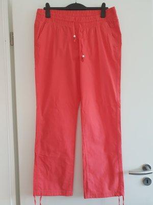 okay Pantalón de lino multicolor Algodón